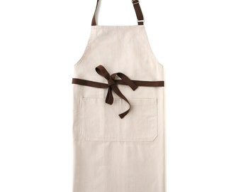 Oat Beige Chef's Kitchen Apron (Regular Size)