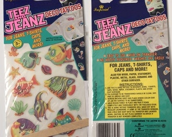 1990's Imperial girls toys/party prizes guitar string jewelery jump rope clothing jean transfers
