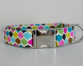 Dog Collar-Girl Dog Collar-Polka Dot Dog Collar-Female Dog Collar-Large Dog Collar-Custom Dog Collar-Designer Dog Collar-Retro Dog Collar