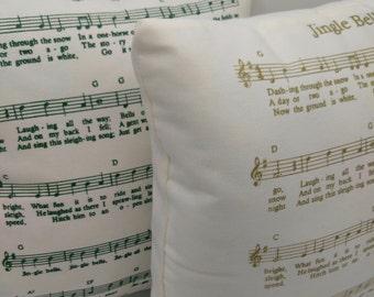 Song Lyric Pillow|Christmas Pillow | Jingle Bell | Christmas decoration | Handmade Christmas | Musical Christmas Pillow|Jingle Bells Music