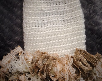 Tiramisu Sweater Dog Dress White and Gold, Thanksgiving, fall, yorkie, Puppy Dress, Cat Dress, Pet dress, Sweater, XS, XXS, XXXS
