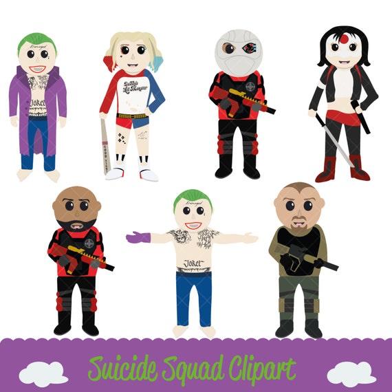 Suicide Squad Clipart & Digital Papers