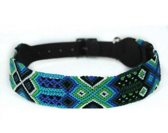 Seattle Blue Dog Collar - Blue/Green