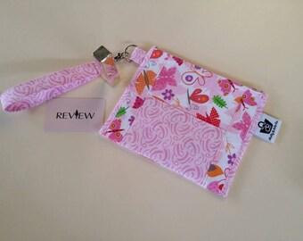 Butterfly Clutch, Wristlet Clutch, Zippered Pouch, Purse, Bag, Designer Clutch,  Clutch,  Evening Bag, Wallet, Zippered Pouch,  Pouch
