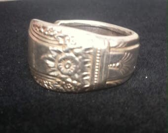 Silverware Jewelry - Silver Spoon ring First Love