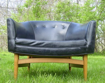 1950s Modern Lounge Chair, Lawrence Peabody, Mid Century Chair, Barrel Back  Chair,