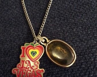 Vintage Lucky Vegas Charms on Chain