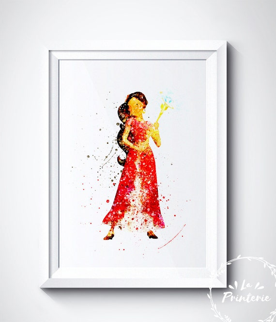 Items similar to elena of avalor art print disney for Disney princess wall mural tesco