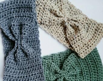 Crochet Bow Headbands/Earwarmers