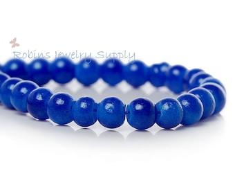100 pcs - Royal Blue Glass Beads - Round Glass Beads - 4mm Glass Beads - Blue Round Beads - 4mm Beads - Glass Beads - B007