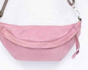 Hip bag Hello, Pretty! in soft leather