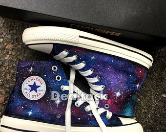 Custom Sneakers, Galaxy Sneakers, Customized Converse, Galaxy Converse, Hand painted Shoes, Unique Gift, Girlfriend gift, wife gift