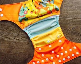 Pre-order cloth diaper - Cloth diaper pokemon pikachu