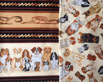 Dog Cotton Fabric Set