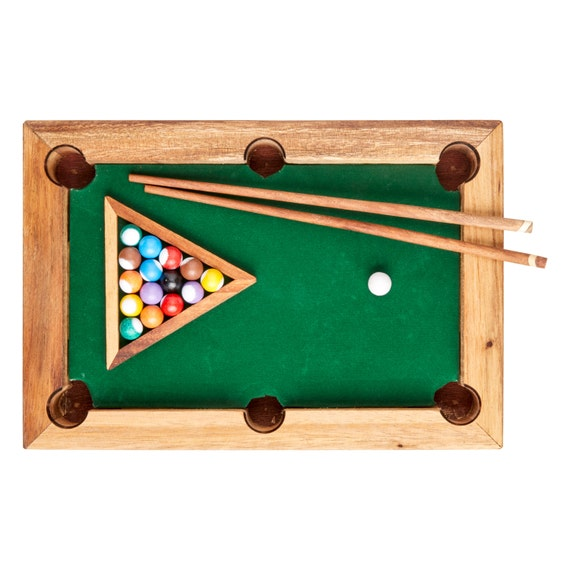 Miniature Pool Table - Fun Game and Decoration - Gift for Men