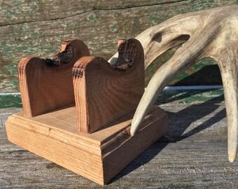 Antler Stand - Shed Antler Stand - Solid Oak Antler Stand - Shed Antler Decor - Antler Decor - Antler Display - Antler Art