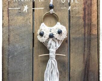 Macrame Owl Tassel Wall Hanging