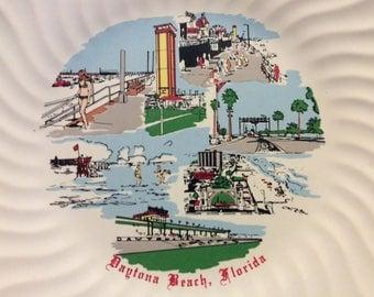 Vintage Daytona Beach Florida Souvenir Wall Plate
