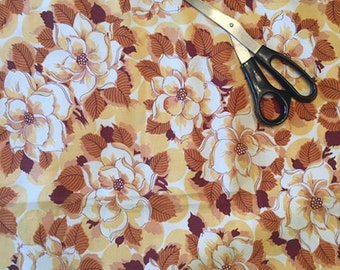 Gold / Brown Floral Fabric