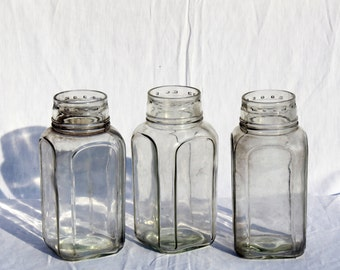 Set of 3 big square candy jars