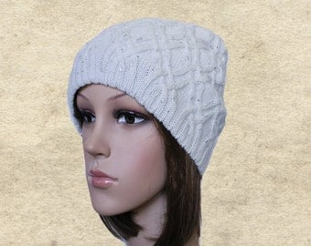 Knitted slouchy hat, Knit slouch beanie, Knitted wool hat, Slouch womens hat, Winter women's hat, Knit hats women, Knitted hat for fall