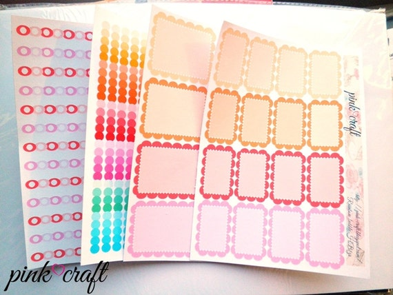 Rainbow bubble collection planner stickers kit KRCS1