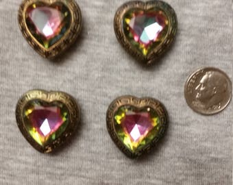 Vintage Button Cover Heart Shaped