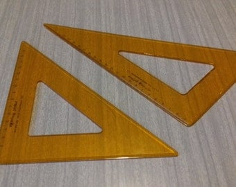 2 Rotring Primus Drafting Triangle Rulers
