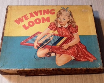 Vintage Toy Loom in Original Box with Instructions