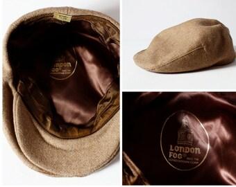 Vintage Men's Wool Cap Hat London Fog - 70s 7 1/4 - 7 3/8