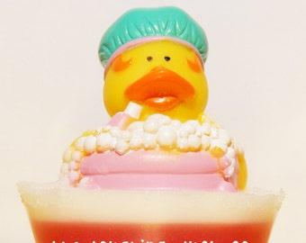 Bubble Bath Soap, Rubber Ducky Soap, Warm Vanilla Sugar, Shea Butter & Glycerin Soap, Rubber Duck, Toddler Gift Idea, Toy, Stocking Stuffer