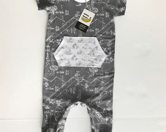 Harem Coverall, Smarty Pants - Baby Romper, Grey Romper, Toddler Romper, Baby Outfit, Coming Home Outfit, Newborn, Grey Baby Outfit