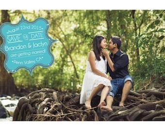 Save The Date, Postcard, Wedding, Custom , Modern, Photo