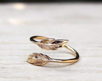 750 thousandth 3 Micron gold plated feather ring