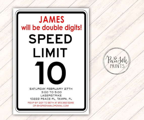 Road Sign Invitation Speed Limit Invitation Speed Limit