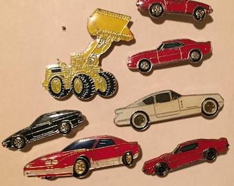 Classic cars - car pins - hat pins - trucker pins - vintage car pins - tie pins - Father's Day - Father's Day gift - cars - tractor - pins