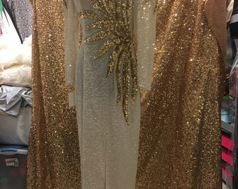 White Dress with Gold Sequin
