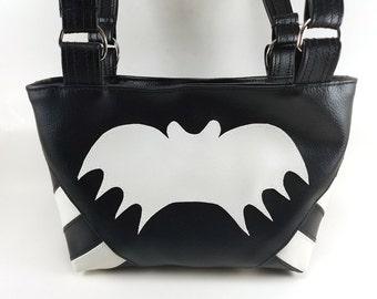 We're All A Little Batty | Bat Purse | Goth Purse |