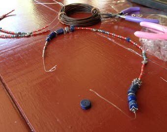 Lapis lazuli ' silver jewelry set