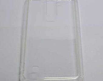 Blank LG K7 Phone Case with DustPlug for DIY project in Transparent. Plain Mobile Phone Case for Decoration.