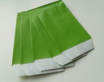 10 7 cm * 12 cm green Kraft gift bags pouches