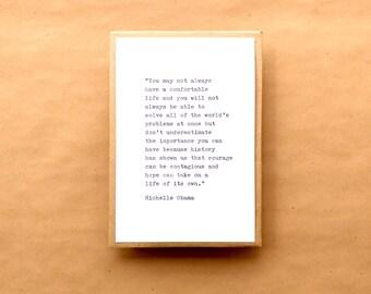 Michelle Obama Typewriter Quote 4x6