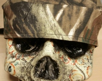 Camoflauge Skull Cap Helmet Lined Du Rag hat chemo cap surgical hat motorcycle biker head wrap Do Rag Camo Mountain Men