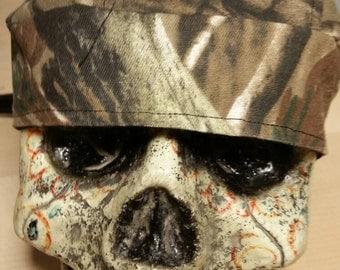 Camoflauge Skull Cap Helmet Lined Du Rag hat chemo cap surgical hat motorcycle biker head wrap Do Rag Camo Mountain Men