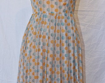50's Fine Lawn Cotton handmade dress