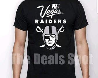 Las Vegas Raiders shirt  - Oakland Raiders t shirt - New Raiders Logo - Black & Silver  - 2017 - Raiders - Raider Nation - LVR