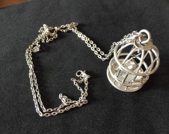Vintage Birdcage Necklace