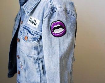 Hustle 'n Love Patched Denim Jacket
