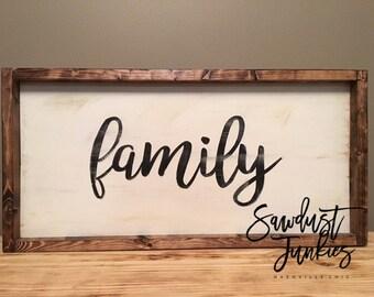 family farmhouse sign