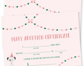 customizable puppy party invitation / puppy invitation / dog birthday invitation / girl birthday / 1st birthday / puppy pawty